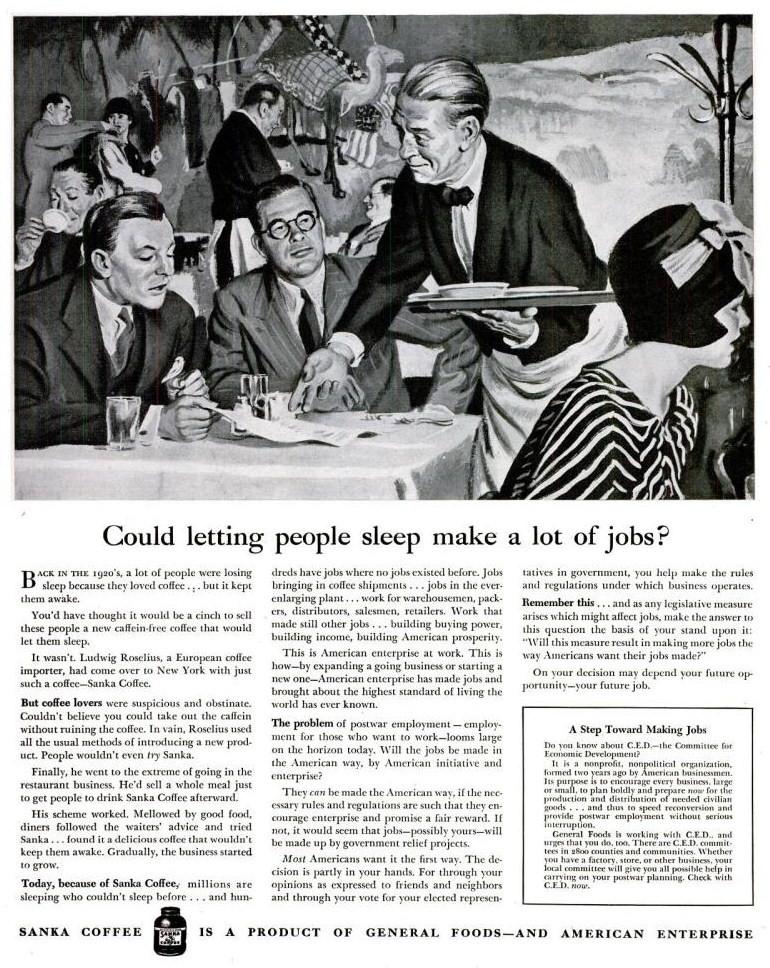 life Jul 9, 1945 sanka employment