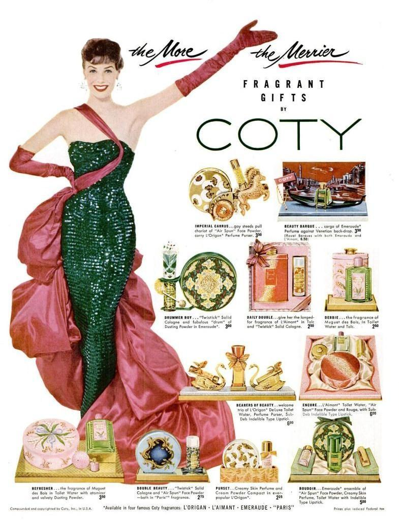 LIFE Dec 6, 1954 coty fragrance perfume christmas pink