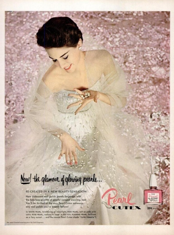 LIFE Jun 28, 1954 cutex pearl nail polish pink