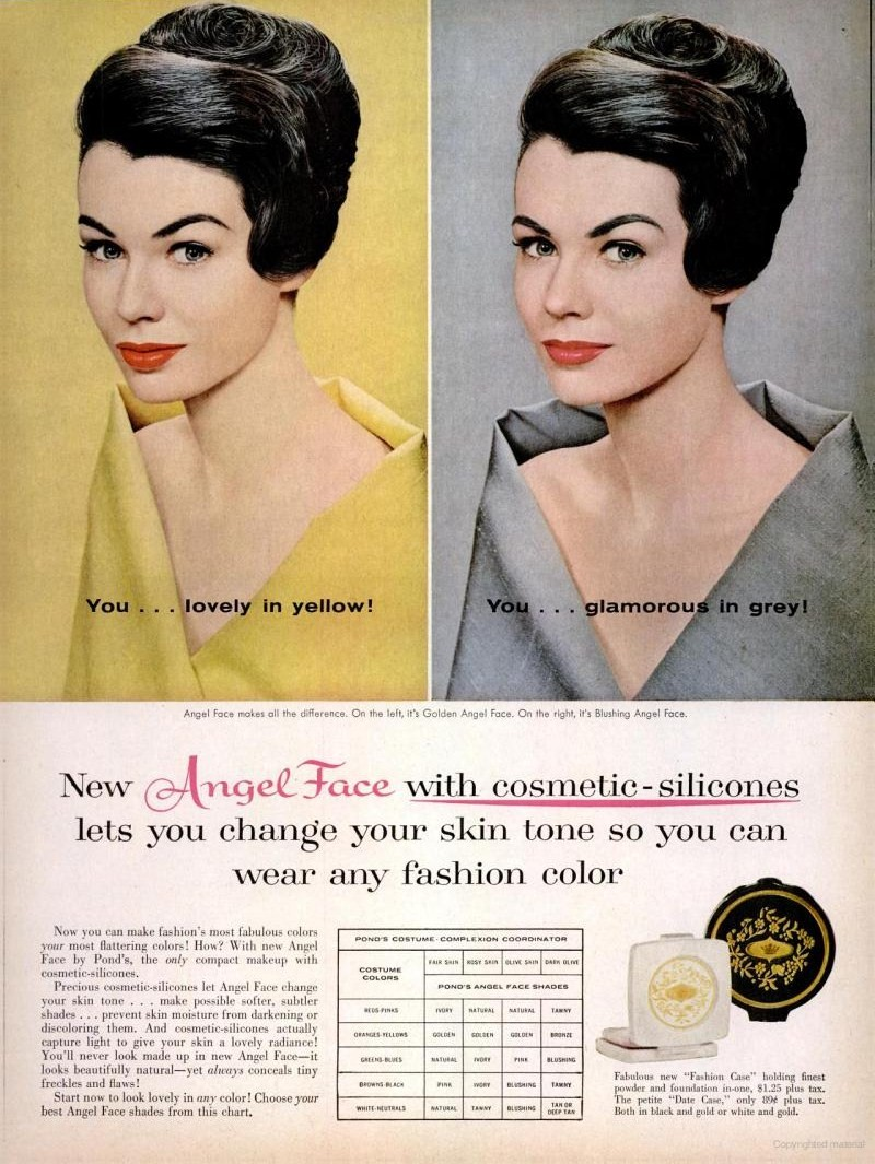 LIFE Apr 4, 1960 angel face skin tone makeup