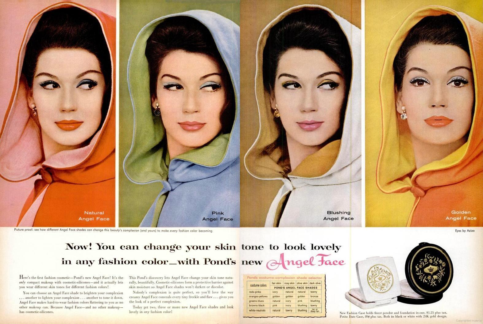 LIFE Sep 19, 1960 angel face skin tone makeup spread