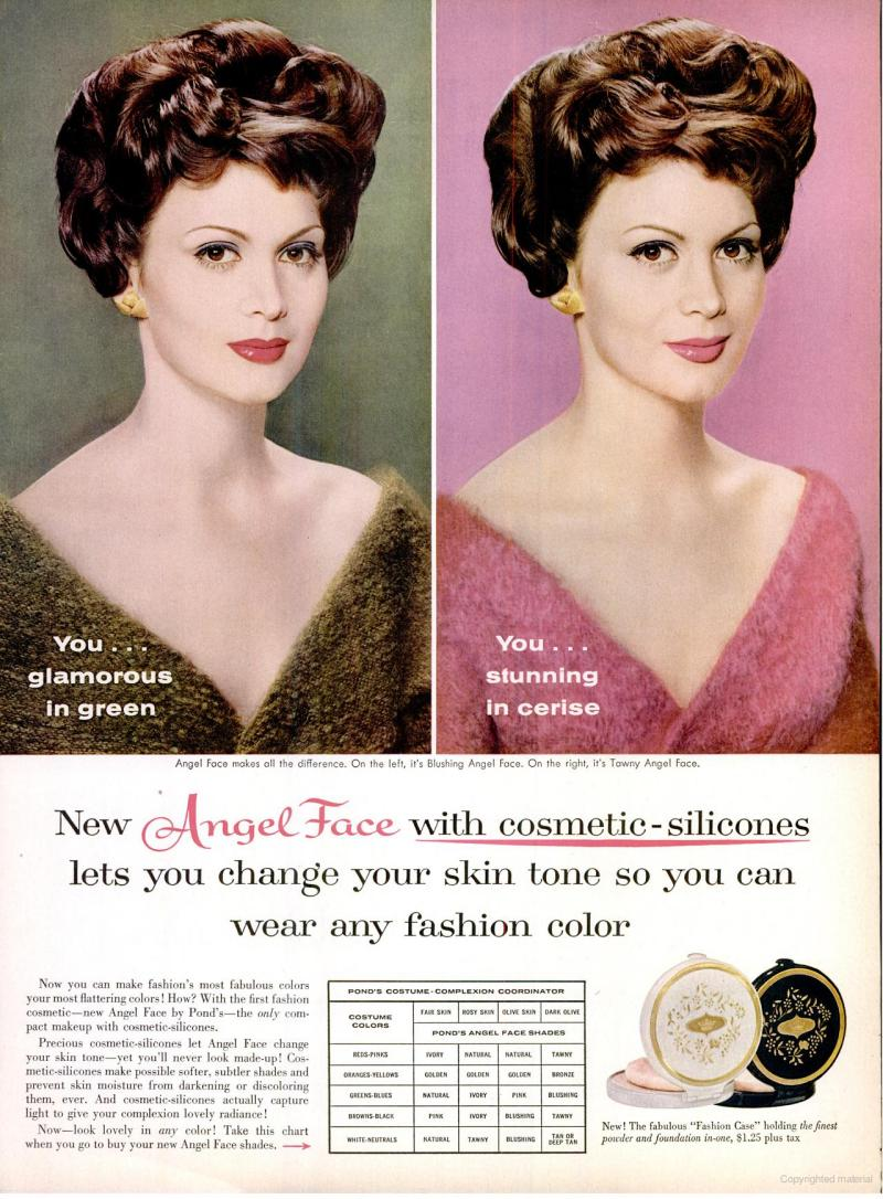 LIFE Jan 25, 1960 angel face skin tone makeup
