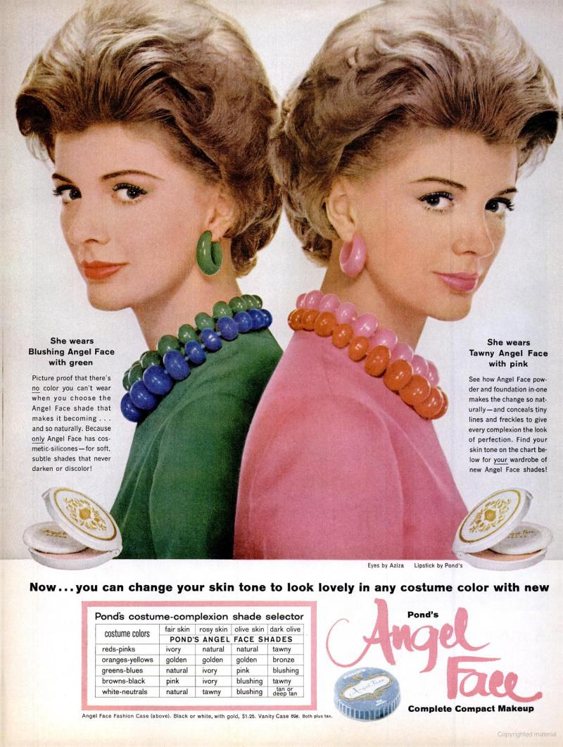 LIFE Jun 9, 1961 angel face skin tone makeup