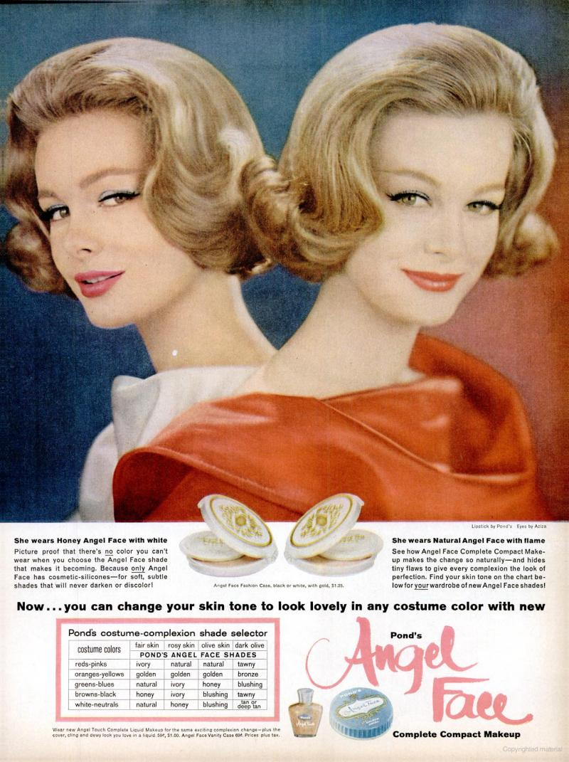 LIFE Oct 27, 1961 angel face skin tone makeup