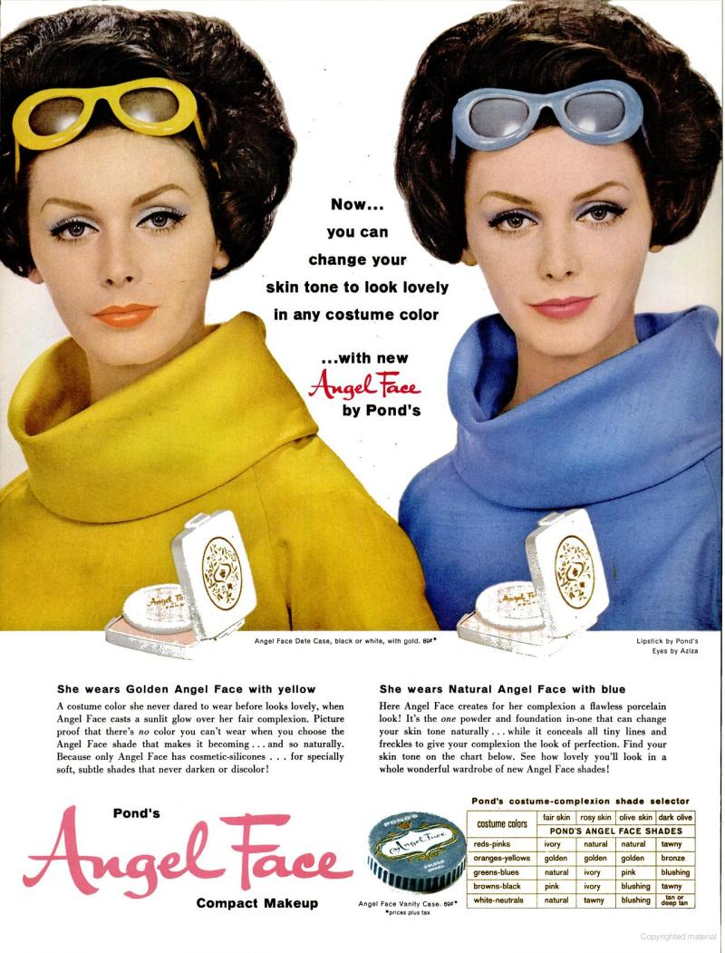 LIFE Apr 28, 1961 angel face skin tone makeup
