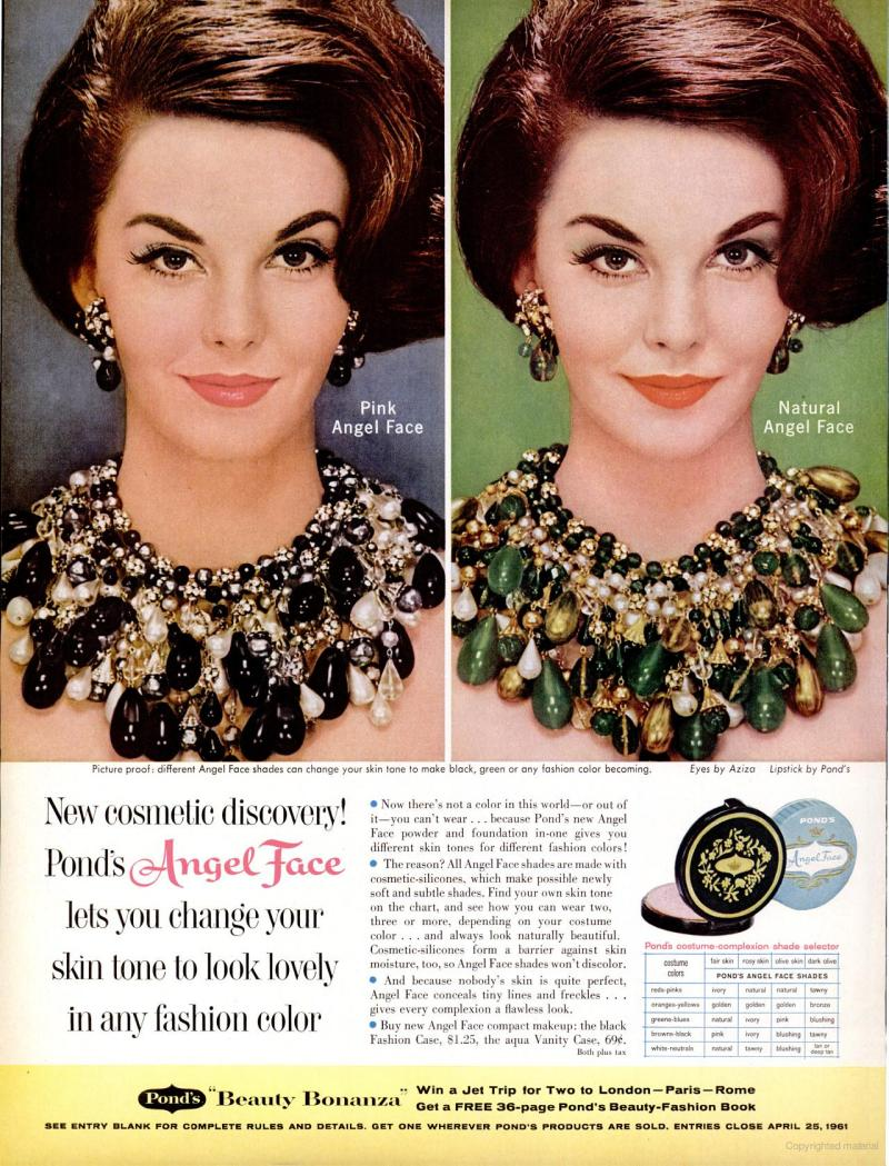 LIFE Feb 17, 1961 angel face skin tone