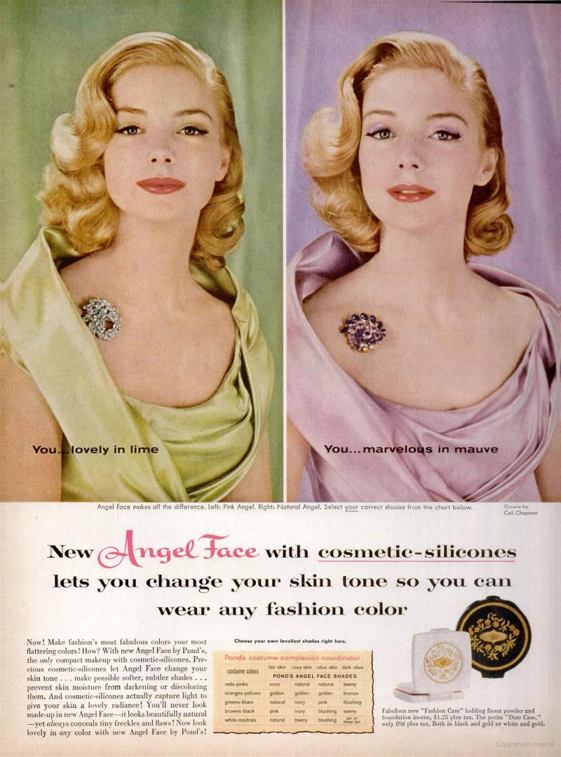 LIFE May 9, 1960 angel face skin tones pin ouch