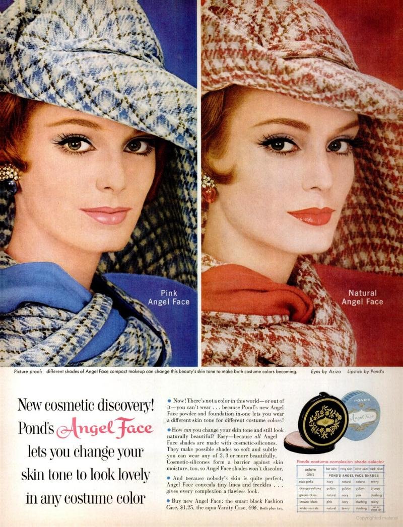 LIFE Jan 20, 1961 angel face foundation skin tones