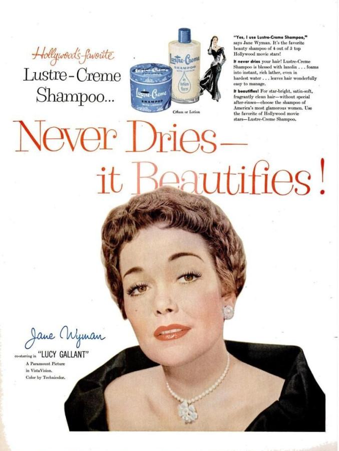 LIFE Apr 18, 1955 lustre-creme shampoo jane wyman