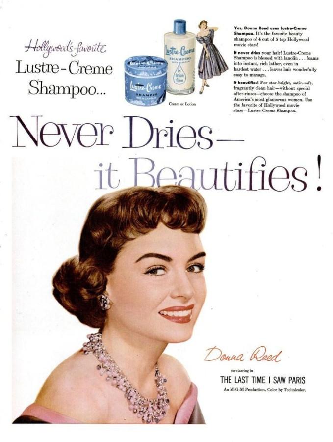 LIFE Jan 17, 1955 luster-creme donna reed