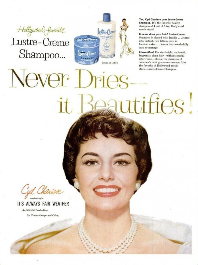 LIFE May 23, 1955 lustre-creme shampoo