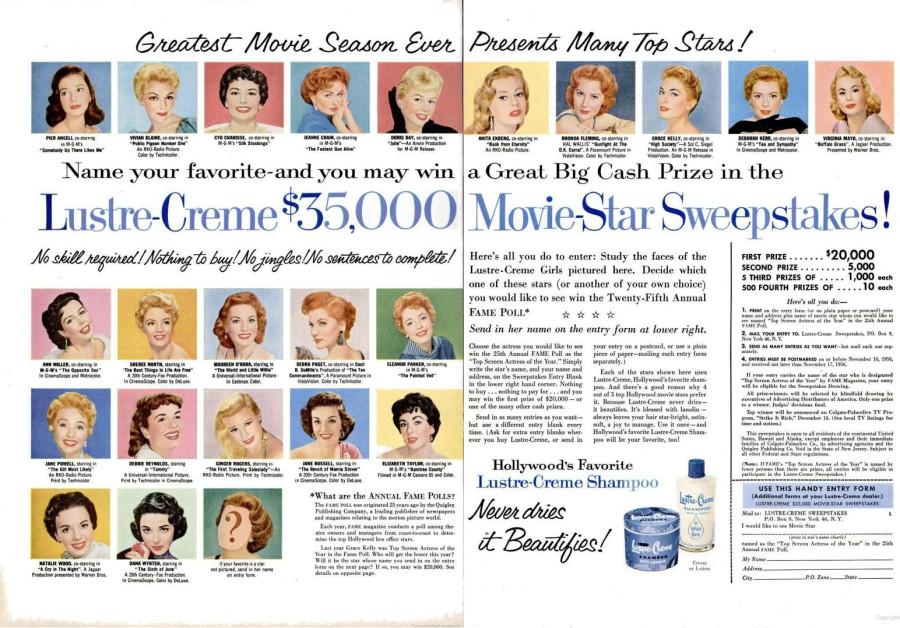LIFE Sep 17, 1956 lustre-creme spread