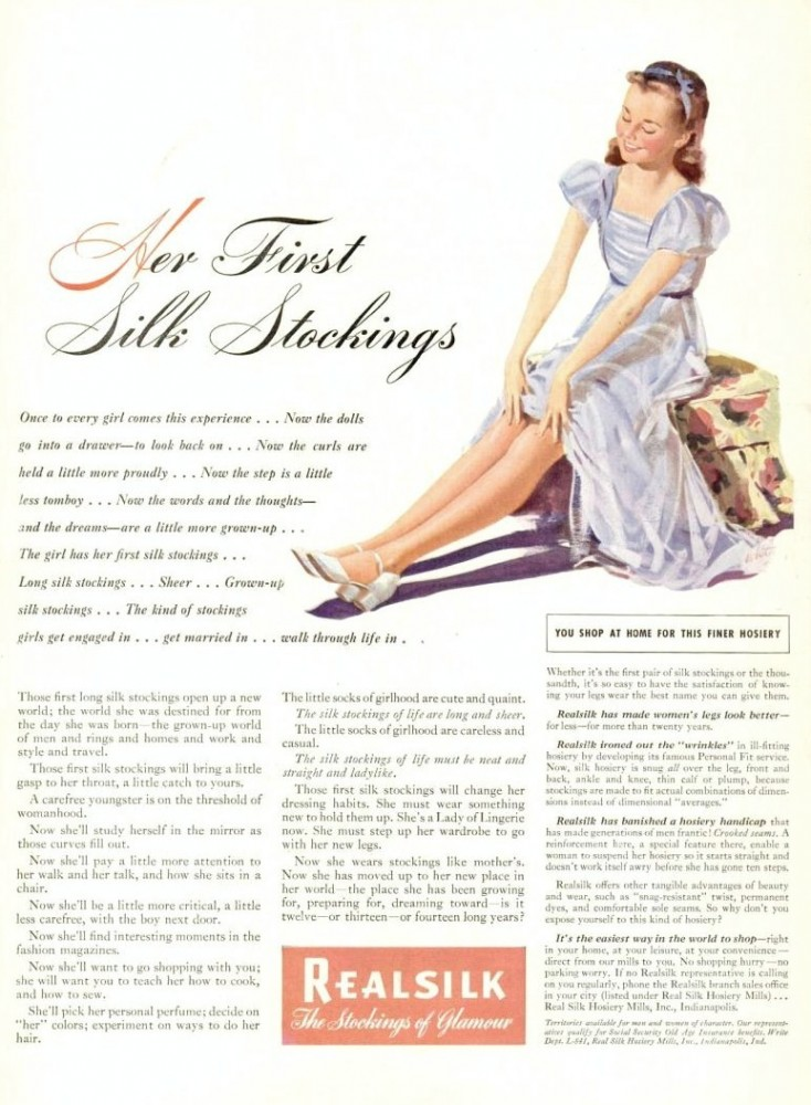 LIFE Aug 4, 1941 realsilk stockings enforced femininity