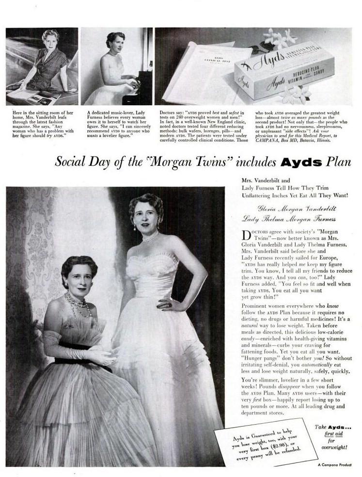 LIFE Mar 21, 1955 vanderbilt ayds diet plan