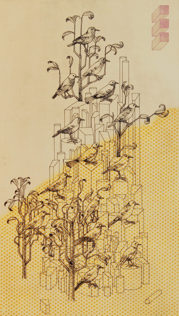 Conference-of-the-Birds-Etching-aquatint-paper-lithography-Edition-of-15-8-x-15-inches