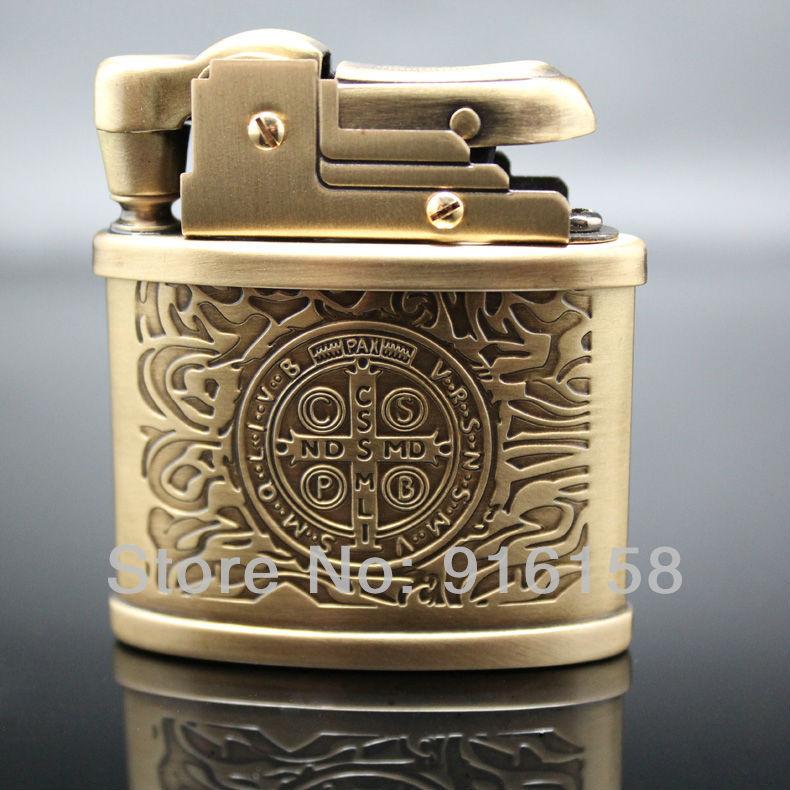 Free-Shipping-Copper-Engraved-Cigarette-Lighter-Kerosene-2