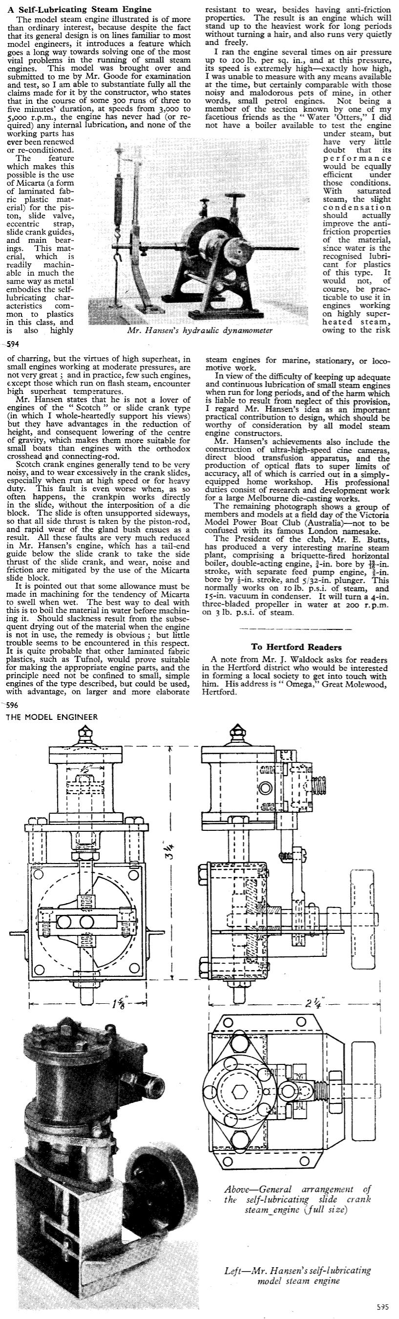 Micarta Steam Engine