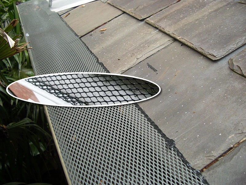 mesh gutter guard installation