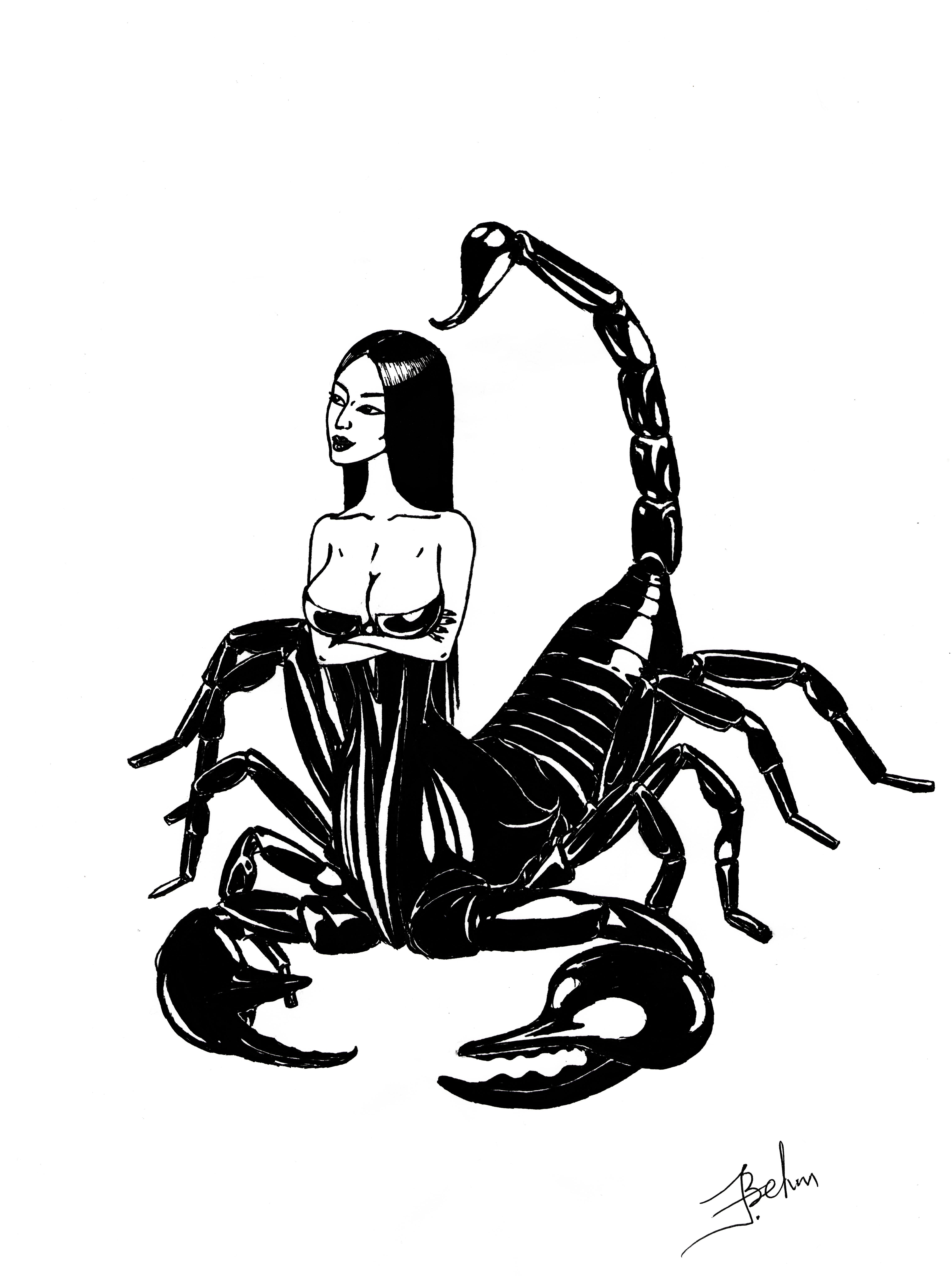Прикольные рисунки скорпионов, пожелания