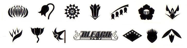 Bleach Flower List Gotei 13 Symbols Soulsociety