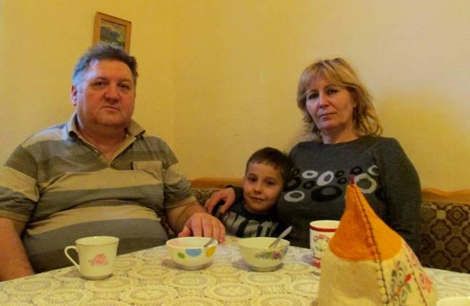 Гурин Семён Иванович с дедом и бабулей