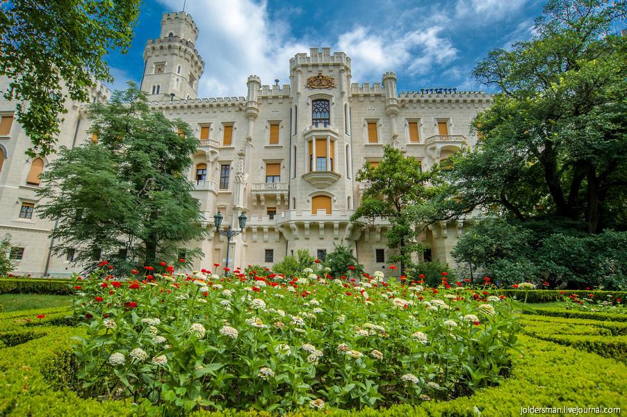 Путешествие в  Чехию летом - замок Глубока над Влтавой