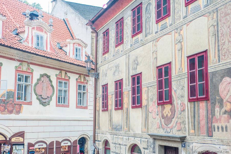 фасады и экстерьеры города Крумлов
