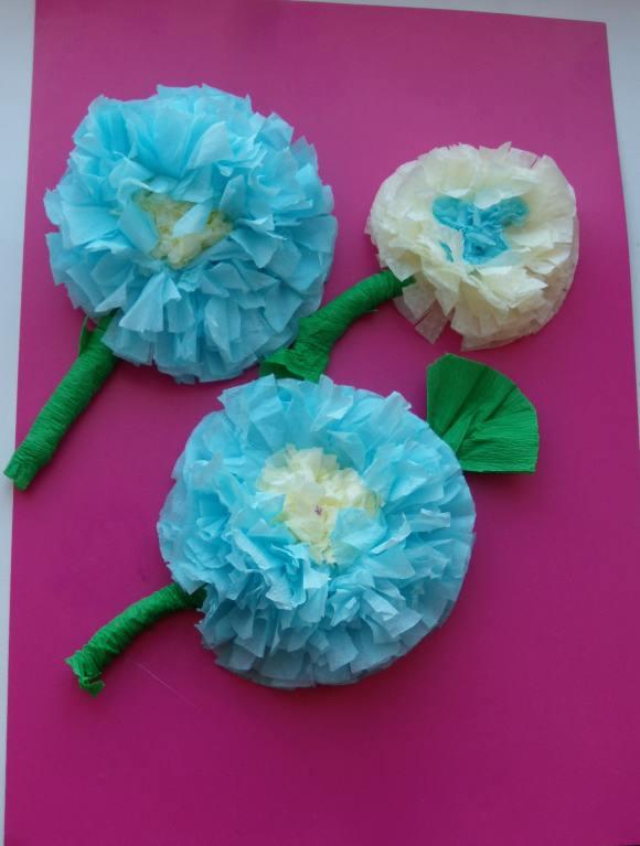 Сделать цветок своими руками в детский сад