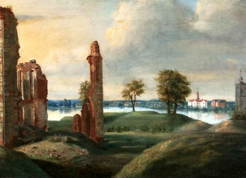 Руины Биржайского замка - около 1800.jpg