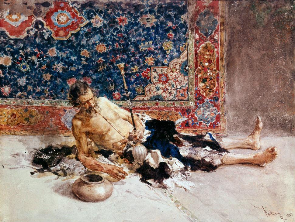 Мариано Фортуни-и-Карбо - Курильщик опиума - 1869.jpg