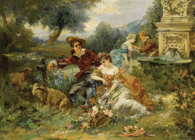 Висенте Гарсия де Пареде (1845-1903) - Идиллическая сцена.jpg