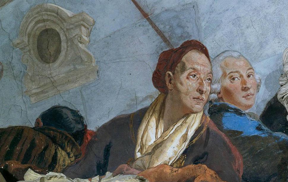 Джованни Батиста Тьеполо - Автопортрет с сыном - фреска.jpg