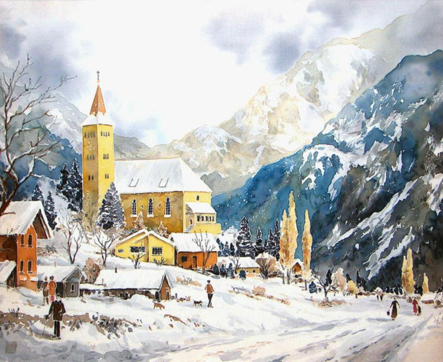 Михал Орловски - В горах зимой.jpg
