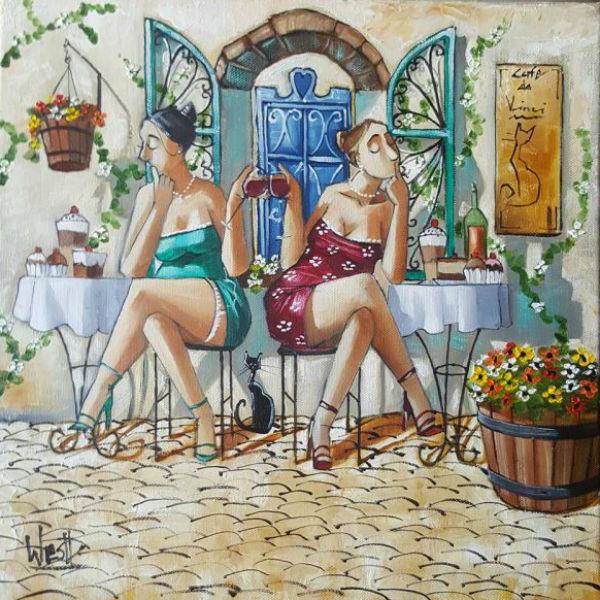 Южноафриканский художник Рональд Вест (Ronald West)«Кино вино и домино».jpg