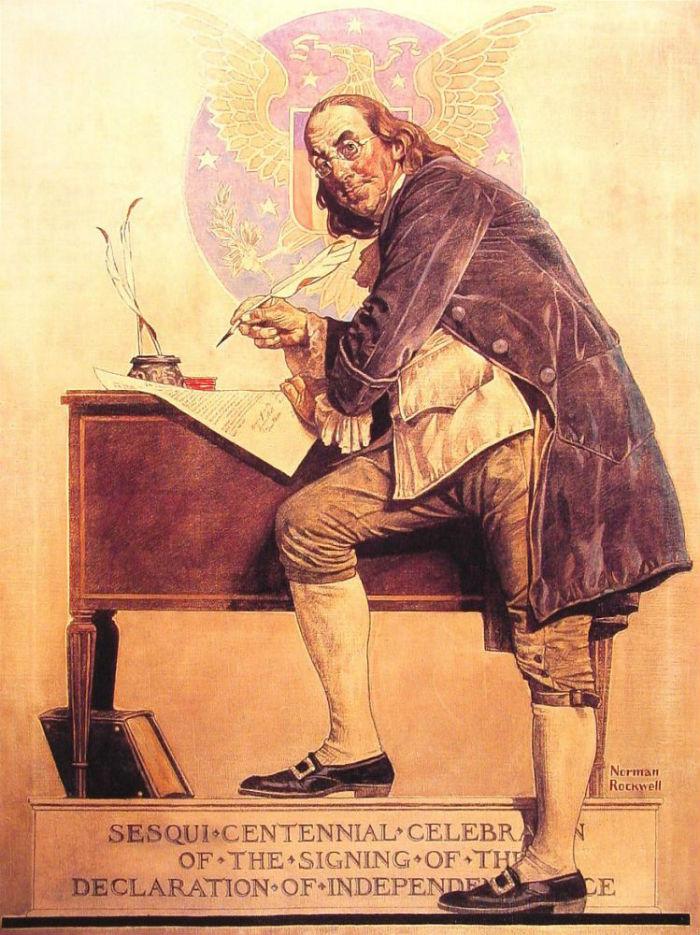 Бенджамин Франклин подписание Декларации независимости - 1926.jpg