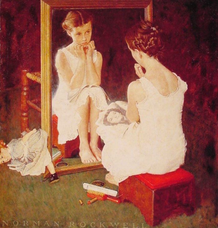 Девочка у зеркала - 1954 - обложка журнала.jpg