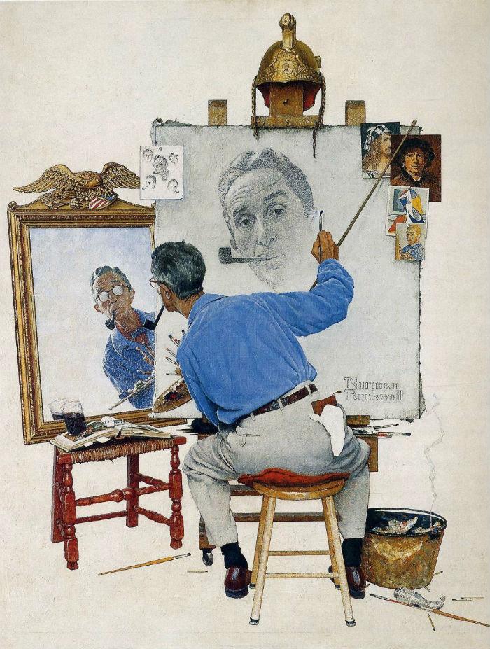 Тройной автопортрет - 1960.jpg