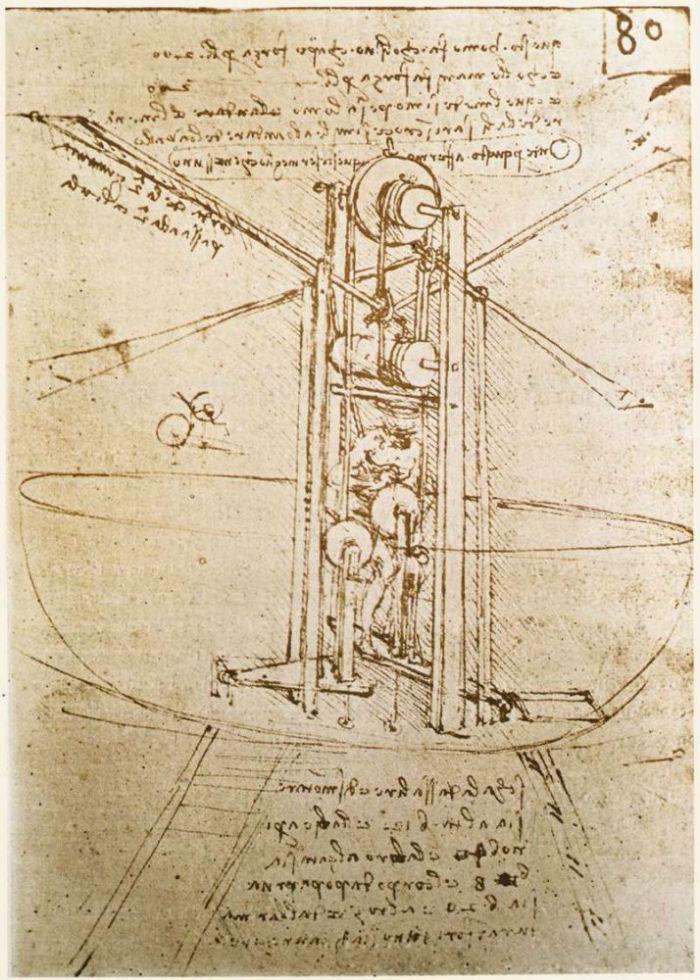 5-Летательный аппарат Леонардо да Винчи - 1487.jpg