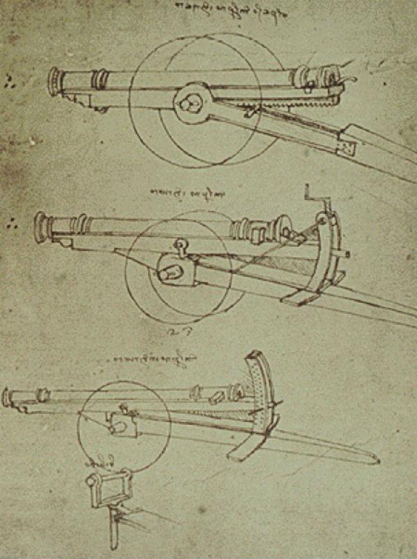 6-Чертеж пушки Леонардо да Винчи - 1480-е.jpg