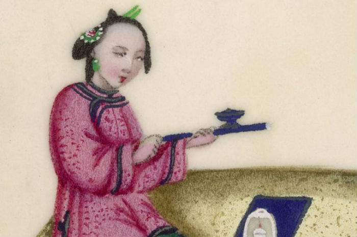 Неизвестный художник - Курение опиума (Китай) - XIX век.jpg
