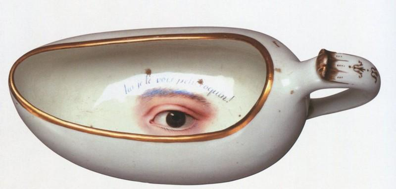 Бурдалю - Франция - XVIII век - Петергофская коллекция - надпись на французском  «Он тебя видит, шалунишка!».jpg