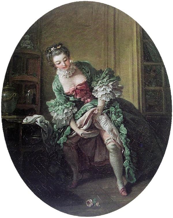 François Boucher - La Toilette intime (Une Femme qui pis e) - 1760 - Франсуа Буше - интимный туалет (2).jpg