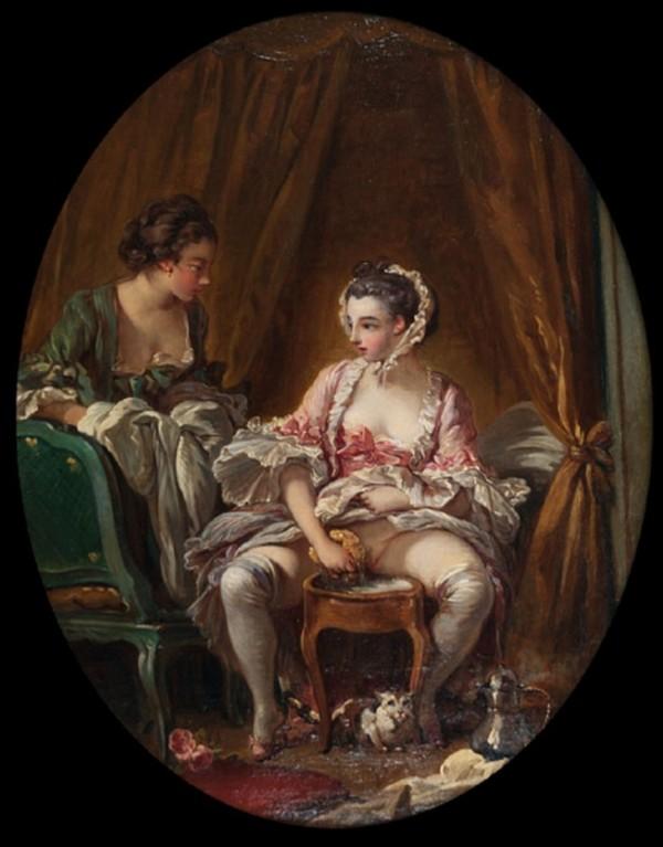 Неизвестный французский художник - Туалет - XIX век) (2).jpg