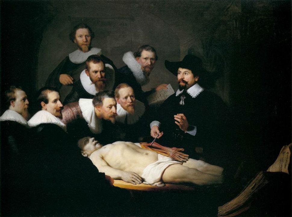 Рембрандт - Урок анатомии доктора Тульпа - 1632.jpg