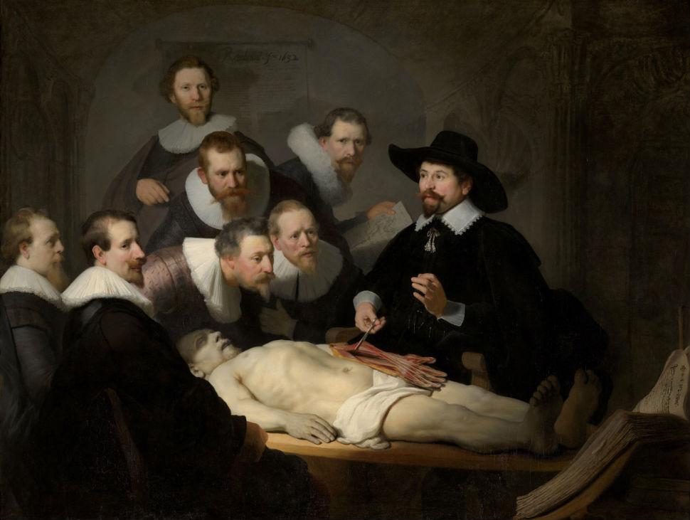 4-Рембрандт Харменс ван Рейн - Урок анатомии доктора Тульпа - 1632.jpg