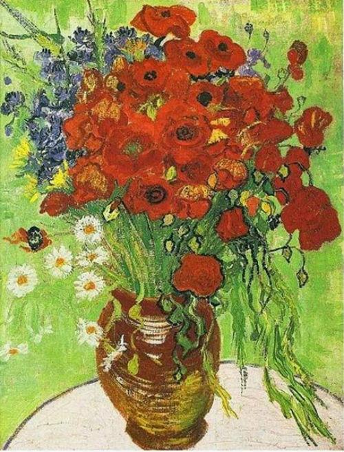 3-Винсент Ван Гог - Натюрморт с красными маками и ромашками - 1890.jpg