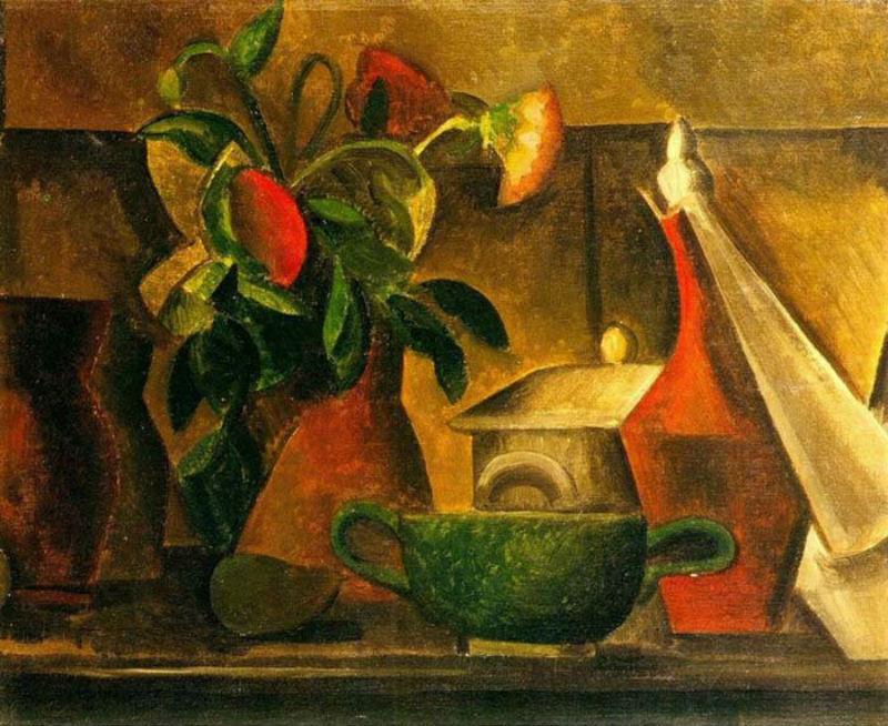 5-Пабло Пикассо - Натюрморт с букетом цветов - 1908.jpg