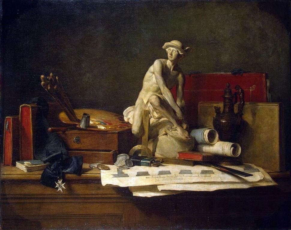 Жан Батист Симеон - Шарден - Атрибуты искусства - 1766 - Эрмитаж.jpg