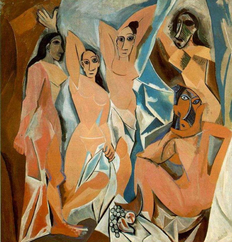 Пабло Пикассо - Авиньонские девицы - 1907.jpg