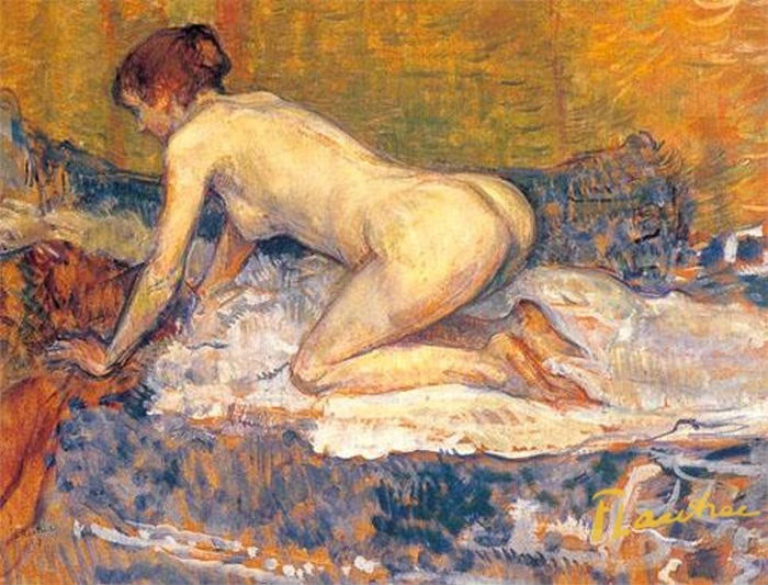 Анри да Тулуз-Лотрек = Рыжеволосая женщина на коленях - 1897.jpg